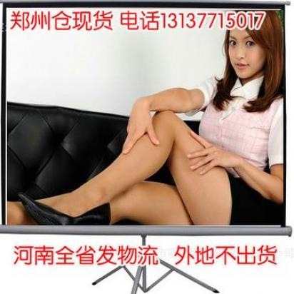 郑州高清影院支架幕布150寸便携式幕布投影仪幕布3...